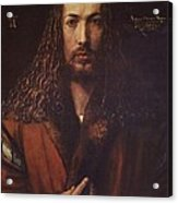 Self Portrait  Durer Acrylic Print by Pg Reproductions