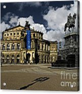 Semper Opera House Dresden - A Beautiful Sight Acrylic Print by Christine Till