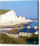 Seven Sisters Cottage View Acrylic Print by Michael Stretton