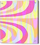 Seventies Swirls Acrylic Print by Louisa Knight