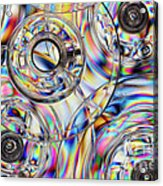 Sewing Bobbins Acrylic Print by Susan Isakson