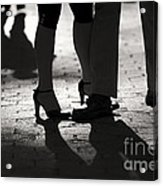 Shadows Of Tango Acrylic Print by Leslie Leda