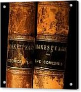 Shakespeare Leather Bound Books Acrylic Print by The Irish Image Collection