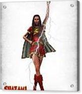 Shazam - Mary Marvel Acrylic Print by Frederico Borges