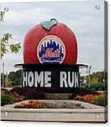 Shea Stadium Home Run Apple Acrylic Print by Rob Hans