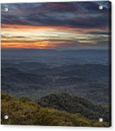Shenandoah Sunset Acrylic Print by Pierre Leclerc Photography