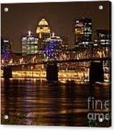 Sherman Minton Bridge Acrylic Print by Joe Finney