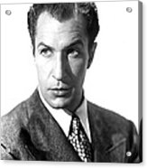 Shock, Vincent Price, 1946 Acrylic Print by Everett