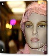 Shopping Girl Acrylic Print by Henrik Lehnerer