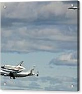 Shuttle Enterprise And Escort Acrylic Print by Roni Chastain