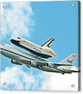 Shuttle Enterprise Comes To Ny Acrylic Print by Regina Geoghan