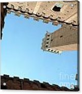 Sienna Tower Acrylic Print by Elizabeth Fontaine-Barr