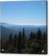 Sierra Nevada Mountains Acrylic Print by Naxart Studio