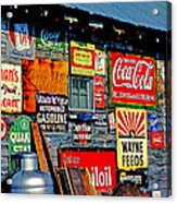 Signs Acrylic Print by Mike Flynn