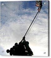 Silhouette Of The Iwo Jima Statue Acrylic Print by Michael Wood