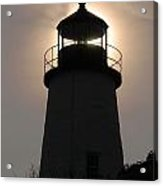Silhouetted Pemaquid Lighthouse Acrylic Print by Darlyne A. Murawski