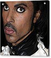 Singer Prince Cartoon Acrylic Print by Sophie Vigneault