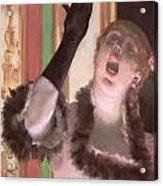 Singer With A Glove Acrylic Print by Edgar Degas