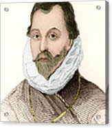 Sir Francis Drake, English Explorer Acrylic Print by Sheila Terry