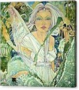Sister Angel Acrylic Print by Jackie Rock
