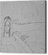 Sketched Expression Series - Mona Lisa Acrylic Print by Stephanie Ward