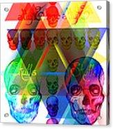 Skulls Illuminate Skulls Acrylic Print by Pierre Louis