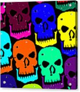 Skulls Acrylic Print by Jame Hayes