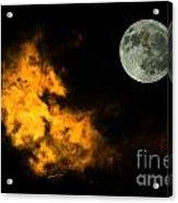Sky And Moon Acrylic Print by Odon Czintos