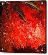 Sky Fire Acrylic Print by Debra and Dave Vanderlaan