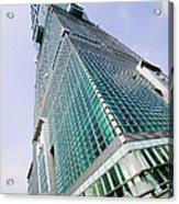 Skyscraper, Taipei 101 Building Acrylic Print by Jeremy Woodhouse