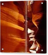 Slot Canyon Shaft Of Light Acrylic Print by Garry Gay
