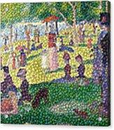 Small Bubbly Sunday On La Grande Jatte Acrylic Print by Mark Einhorn