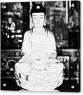 Small Golden Buddha Statue In Monastery Of Ten Thousand Buddhas Sha Tin New Territories Hong Kong Acrylic Print by Joe Fox