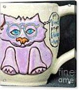 Smart Kitty Mug Acrylic Print by Joyce Jackson