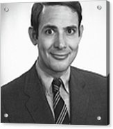 Smiling Man Posing In Studio, (b&w), Portrait Acrylic Print by George Marks