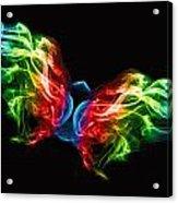 Smoke Butterfly Acrylic Print by Alice Gosling