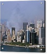 Smoke From The Ruins Of The World Trade Acrylic Print by Everett