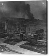 Smoldering Ruins Of African Americans Acrylic Print by Everett