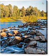 Smooth Rapids Acrylic Print by Robert Bales