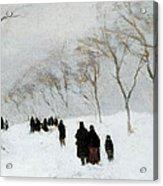 Snow Storm Acrylic Print by Anton Mauve