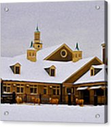 Snowy Day At Erdenheim Farm Acrylic Print by Bill Cannon