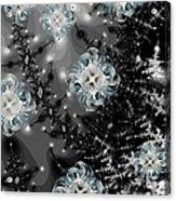 Snowy Night IIi Fractal Acrylic Print by Betsy Knapp