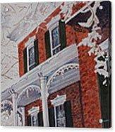 Snowy Yesteryear Acrylic Print by Patsy Sharpe