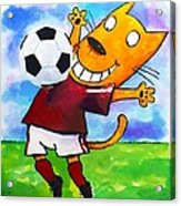 Soccer Cat 3 Acrylic Print by Scott Nelson