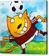 Soccer Cat 4 Acrylic Print by Scott Nelson