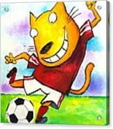 Soccer Cat Acrylic Print by Scott Nelson