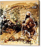 Soldiers On The Wall Acrylic Print by Jeff Steed