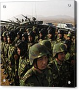 Soldiers With The Peoples Liberation Acrylic Print by Stocktrek Images