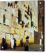 Solomon's Wall  Jerusalem Acrylic Print by Pg Reproductions
