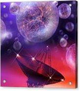 Solving The Universe's Mysteries, Artwork Acrylic Print by Detlev Van Ravenswaay